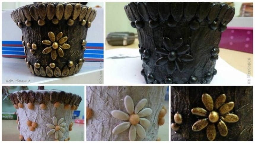 How to make pot for flowers