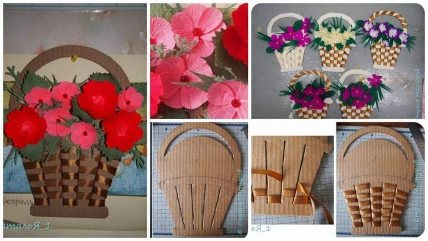 How to make basket of flowers wall art