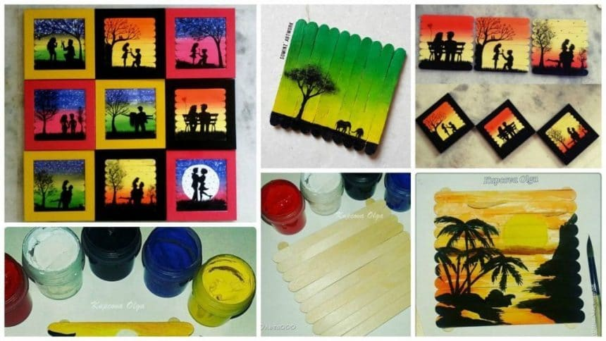 How to make ice-cream sticks paintings