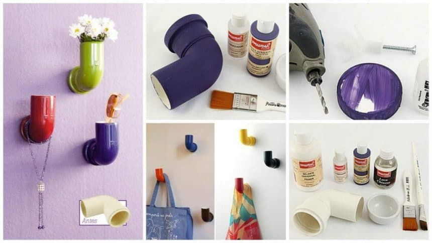 create a beautiful decoration with colorful PVC pipes