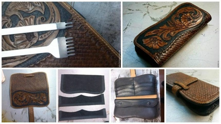 How to make creating leather purse