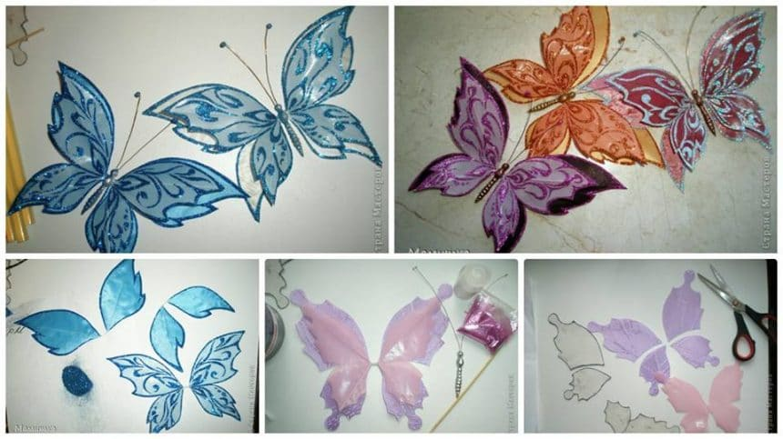 How to make butterfly from  fabric