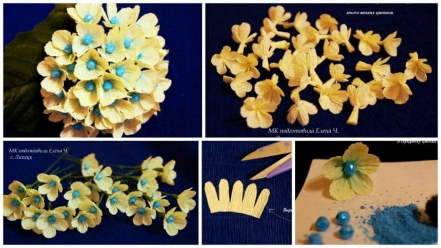 How to make paper hydrangea