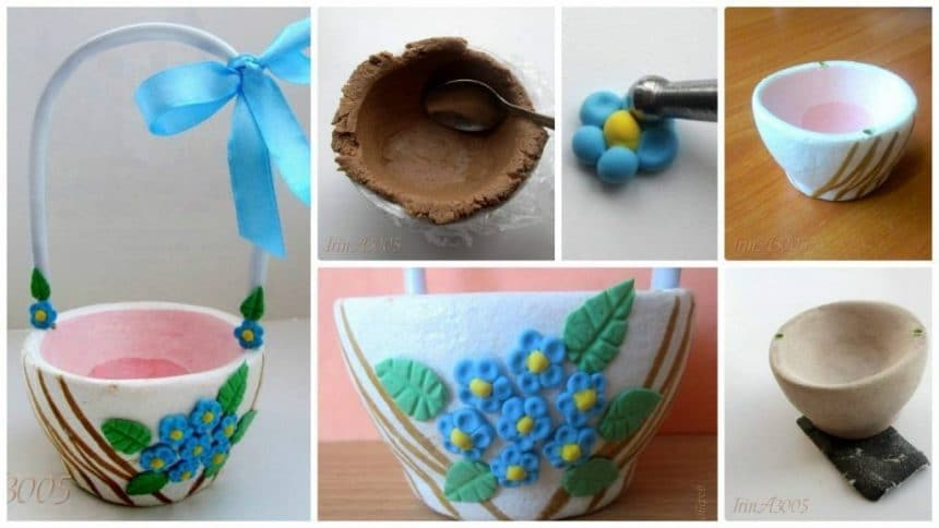 How to make basket  from paper mache