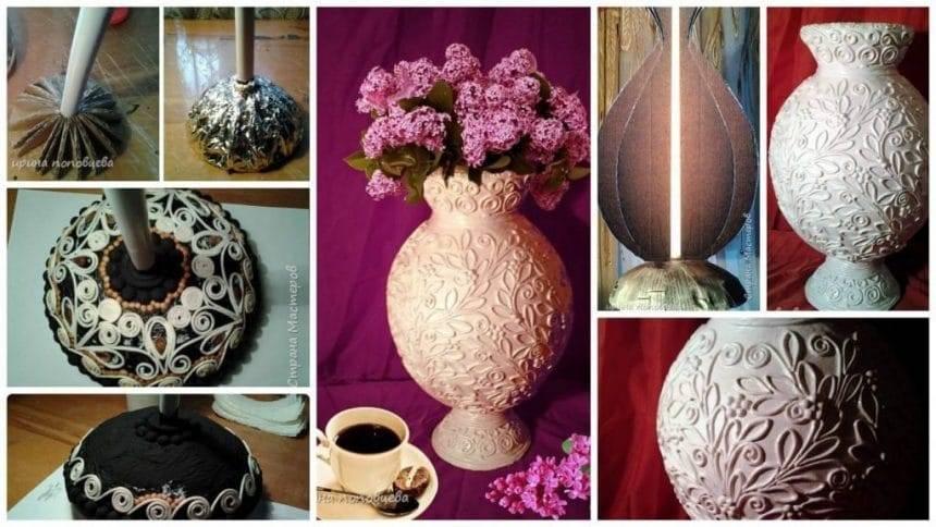 How to make Vase made of cardboard