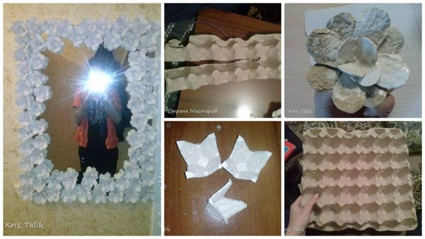 How to make decorate mirror from egg try