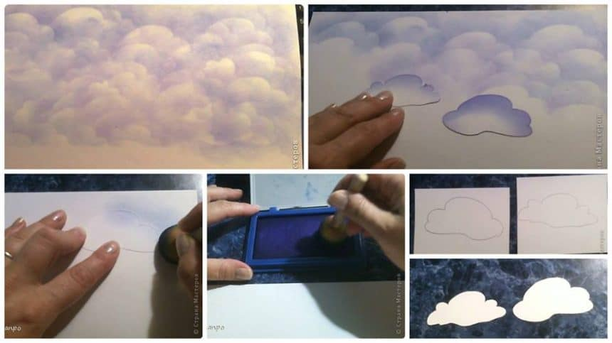 How to draw a cloud without brushes and pencils