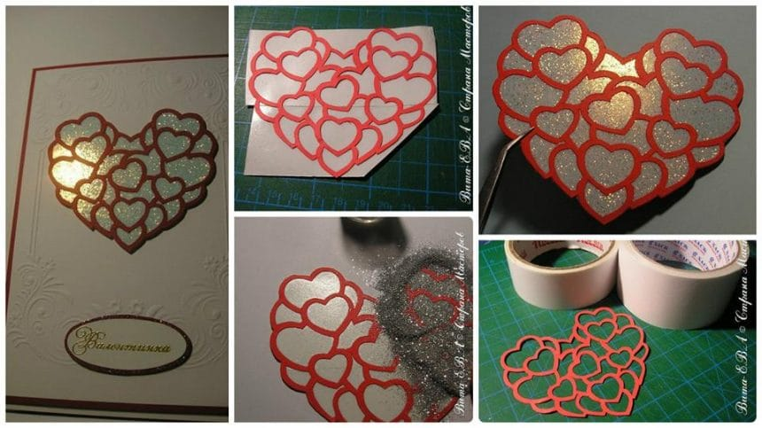 How to decorate clipping glitter for card