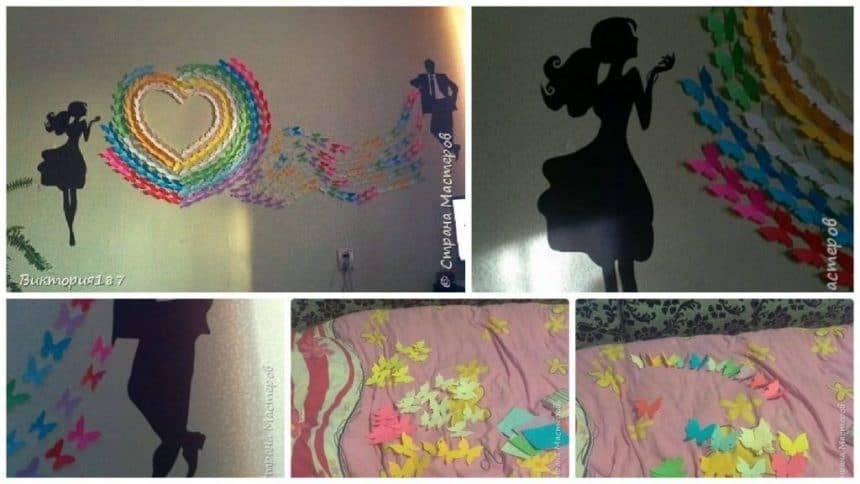 How to make butterflies wall art