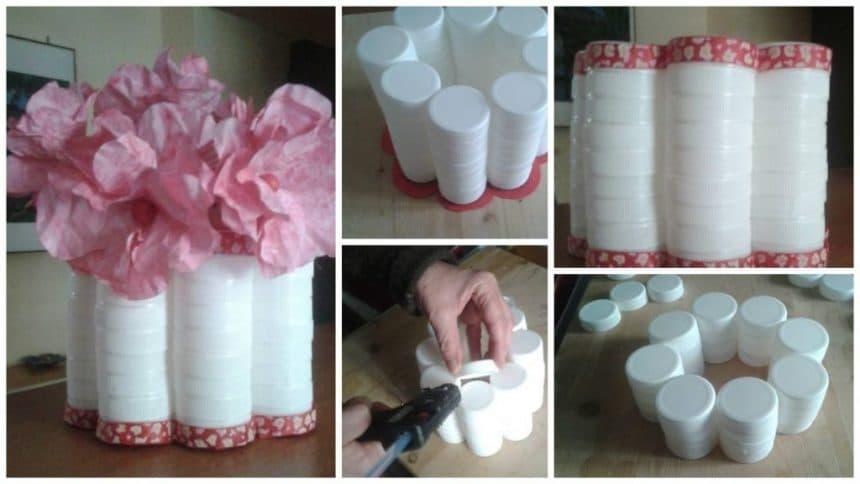 How to make flower vase from bottle cap