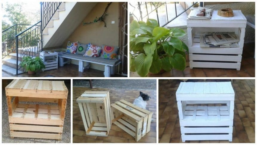 How to make table with fruit crates