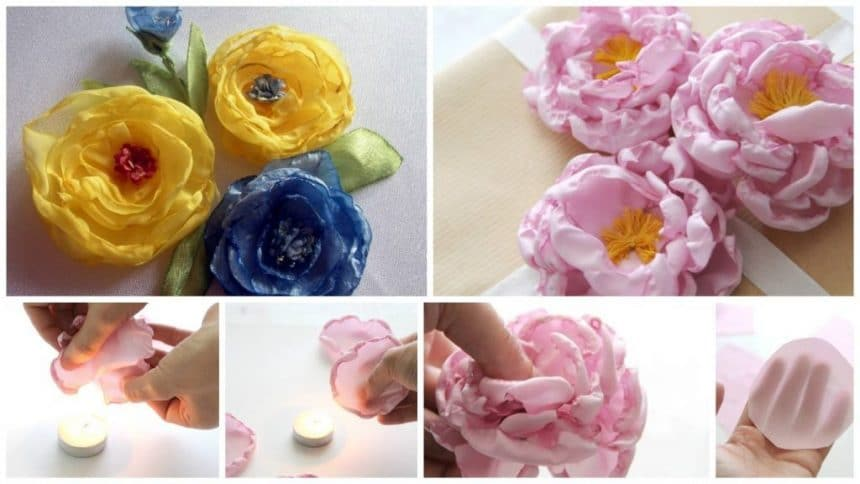 How to make fabric flowers for decorating gifts