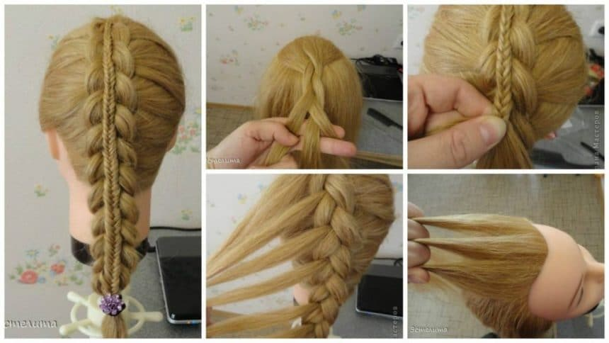 How to weaving double braids hairstyle