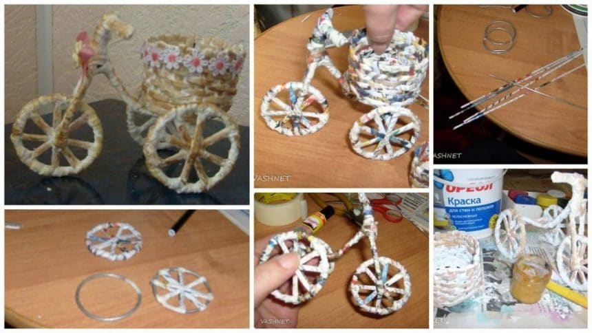 How to make bicycle flower pot