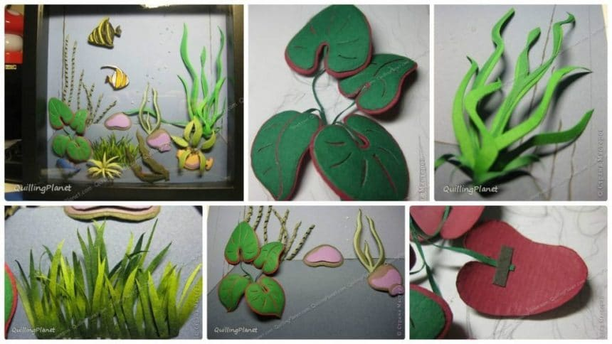 How to make quilling aquarium