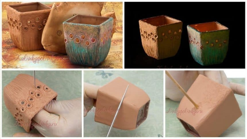 How to candlestick made of polymer clay
