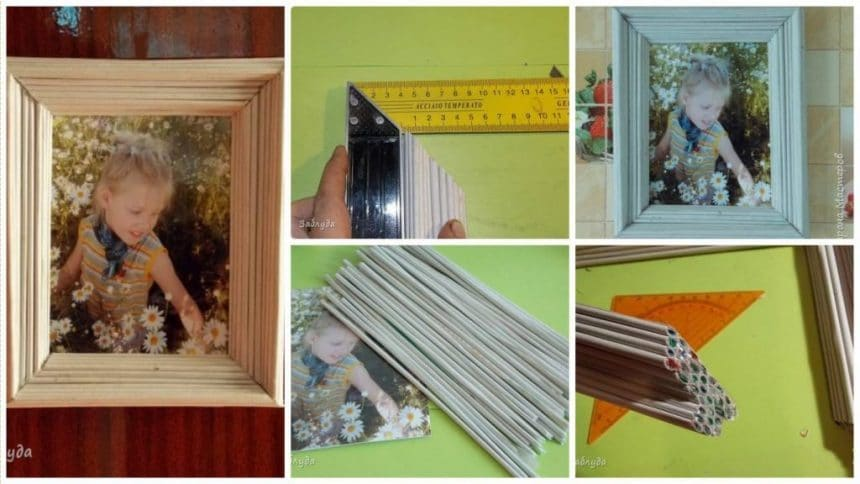 How to make newspaper photo frame