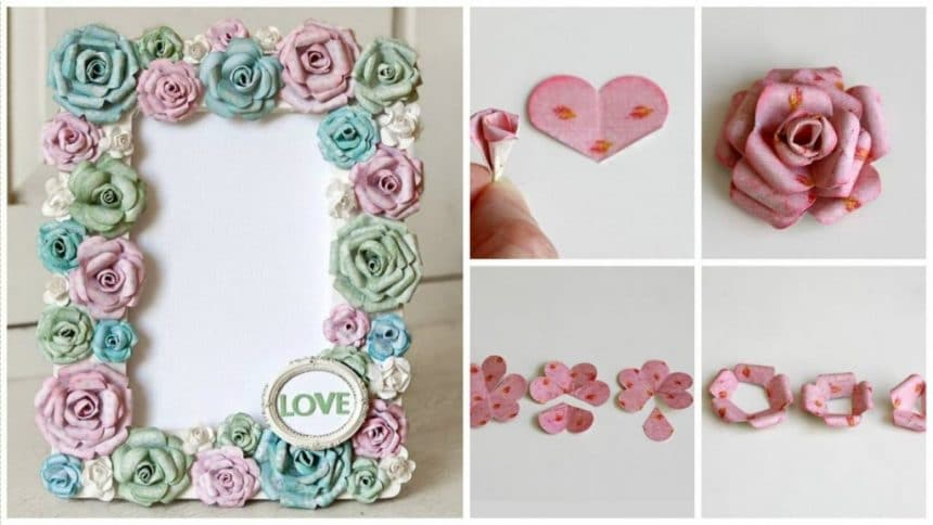 How to make frame with paper flowers
