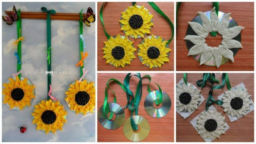 How to make sunflower wall art from salt dough