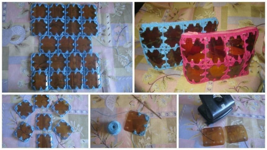 How to make clutches bag from plastic bottle