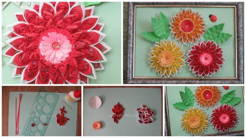 How to make gerbera in quilling techniques