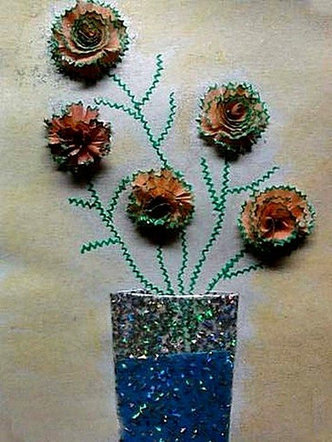 How To Pencil Shavings Craft Simple Craft Ideas