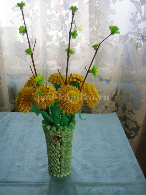 Flower Vase Making With Quilling Paper Flowers Healthy