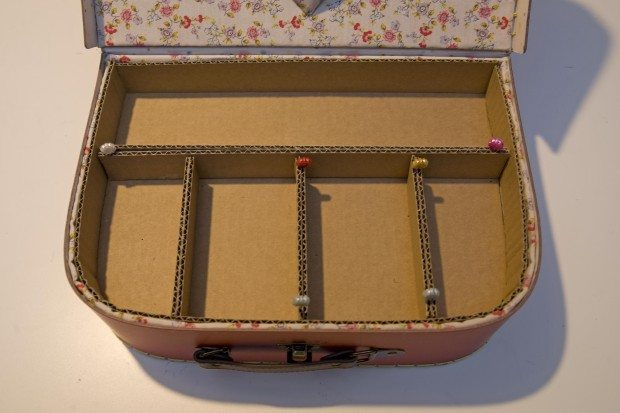 sewing kit with a cardboard box