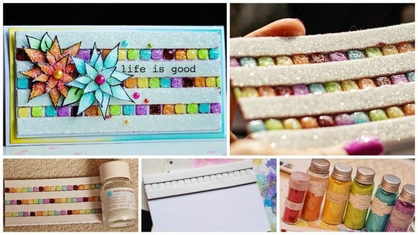 How to make 3D glitter card