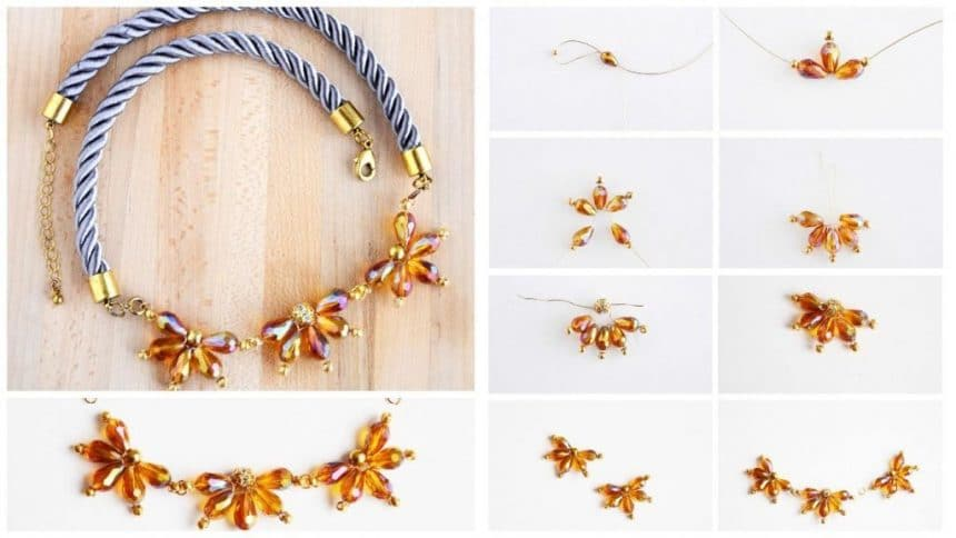 How to make a necklace of beads