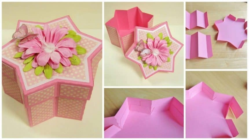 """How to make """"six-pointed star"""" box"""