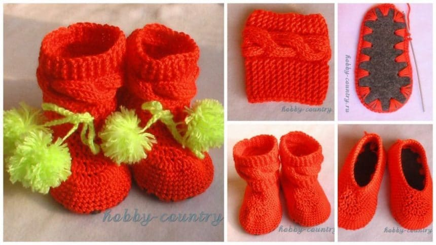 How to make bright booties for the baby