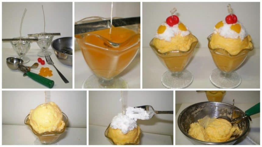 "How to make ""Ice Cream"" candle"