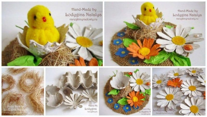 Easter idea for egg trays