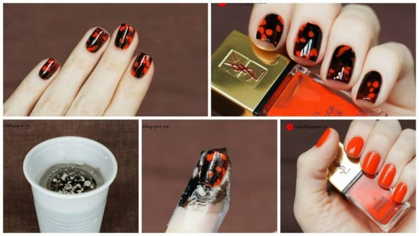 How To Black Spotted Nail Art