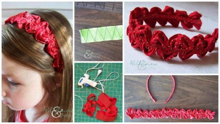 How To Make Ruffled Ric Rac Headband