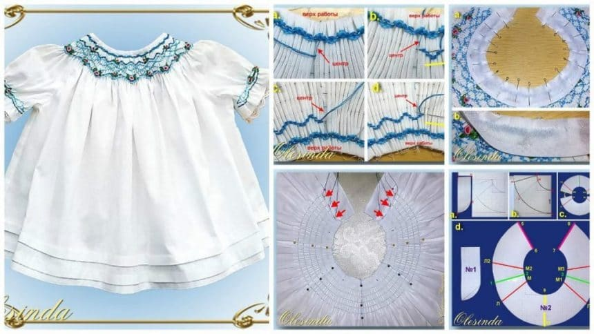 How to make embroidered puff frock