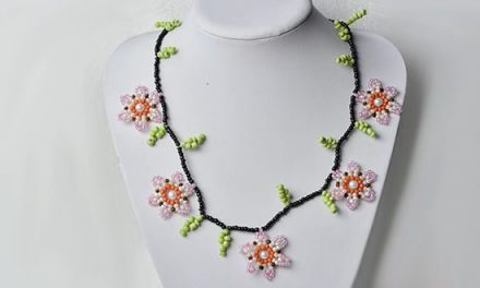 How to Make Cheap Flower Seed Beads Necklace for Girls