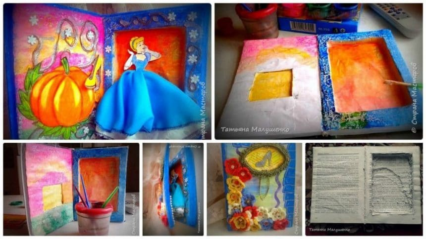 "How to make fairy tale ""Cinderella"",book for gift"