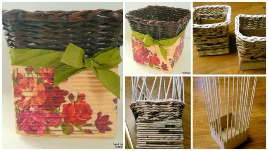 How to weaving decorative baskets for interior decoration