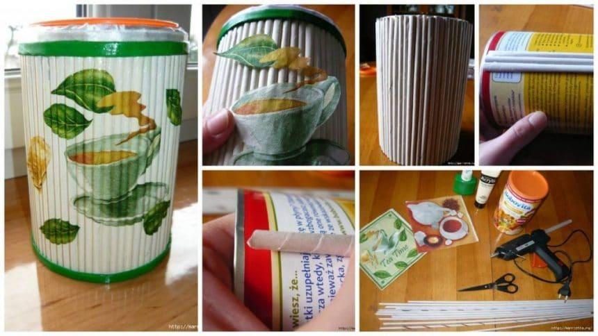Most easy ideas for decorating items with newspaper tubes