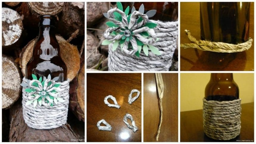 How to make decorating items with newspaper tubes