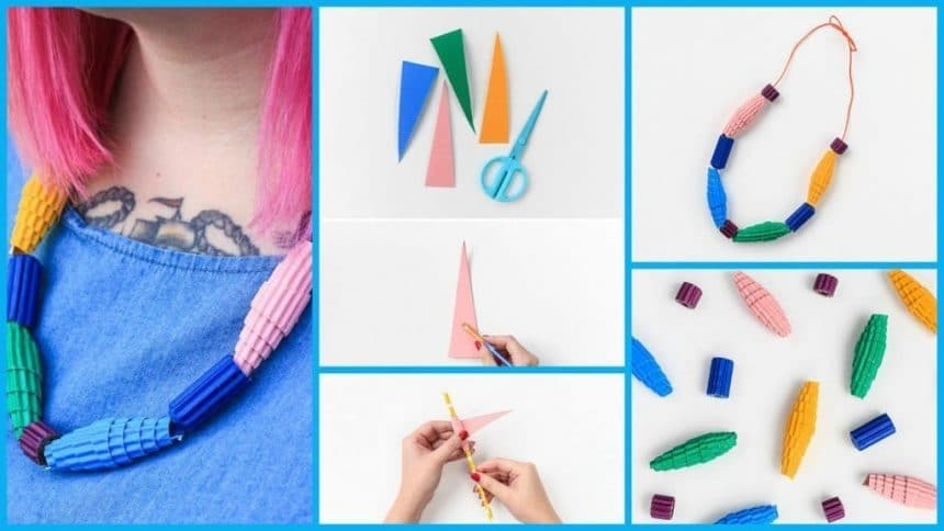 How to make paper necklace for summer