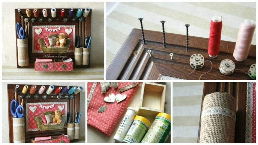 How to make sewing organiser