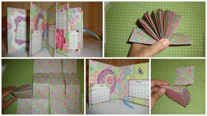 How to make gift calendar-book from one sheet