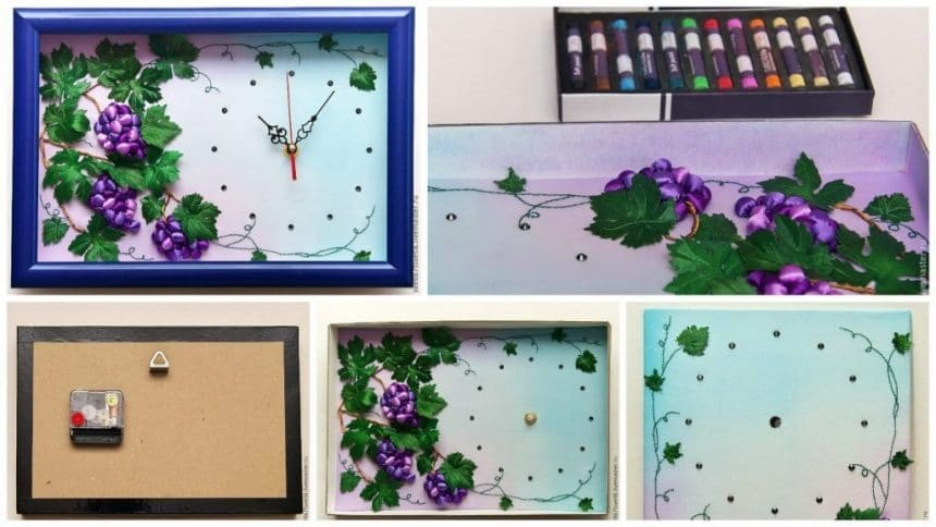 How to make clock with the bulk embroidered prints