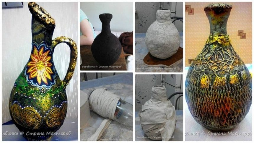 How to make flower vase from a glass bottle