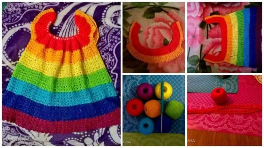 How to make rainbow dress