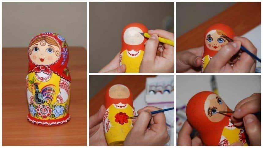 How to make painting matryoshka doll