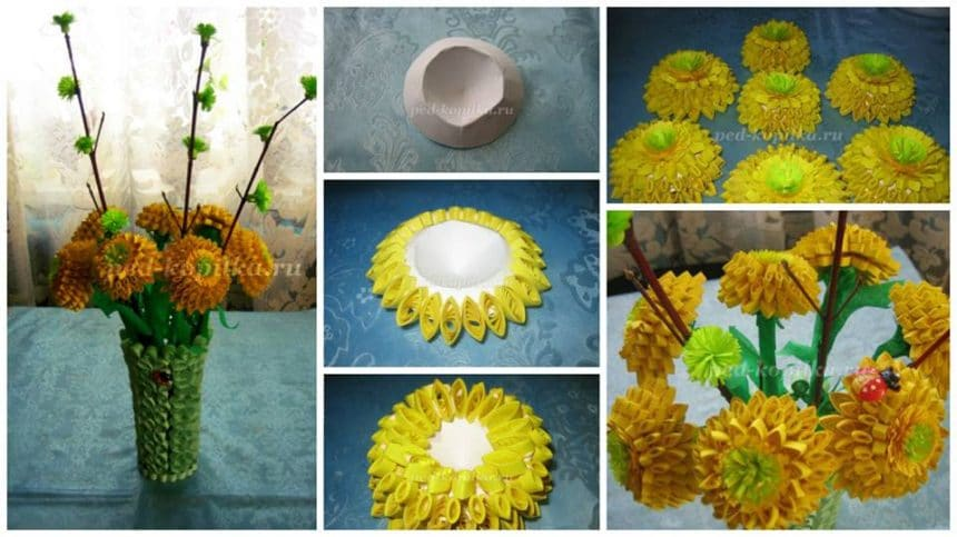 How to make flower from quilling paper